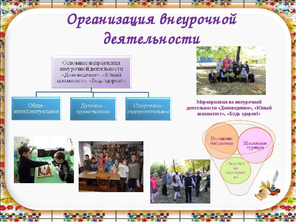 Организация внеурочной деятельности Мероприятия во внеурочной деятельности «Д...
