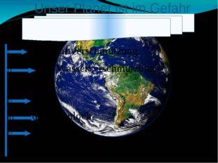 . Unser Planet ist im Gefahr die Luftverschmutzung die Wasserverschmutzung d