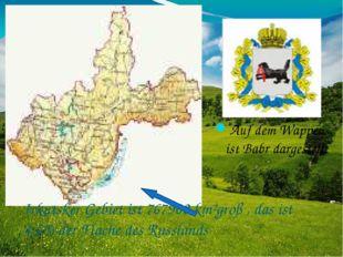 Irkutsker Gebiet ist 767900 km²groß , das ist 4,6% der Flache des Russlands A
