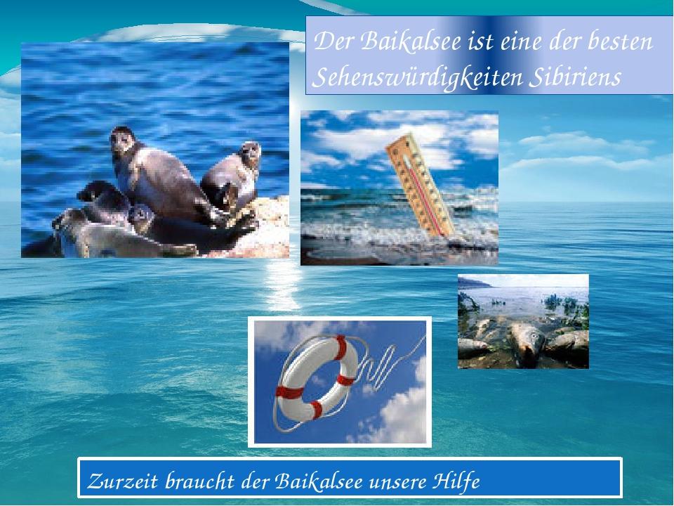 Zurzeit braucht der Baikalsee unsere Hilfe Der Baikalsee ist eine der besten...