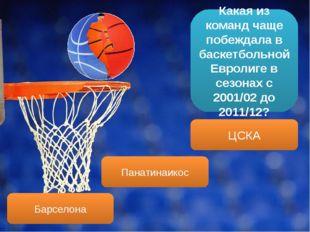 Какая из команд чаще побеждала в баскетбольной Евролиге в сезонах с 2001/02 д