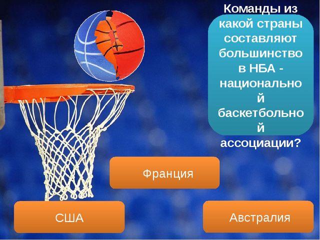 Команды из какой страны составляют большинство в НБА - национальной баскетбол...