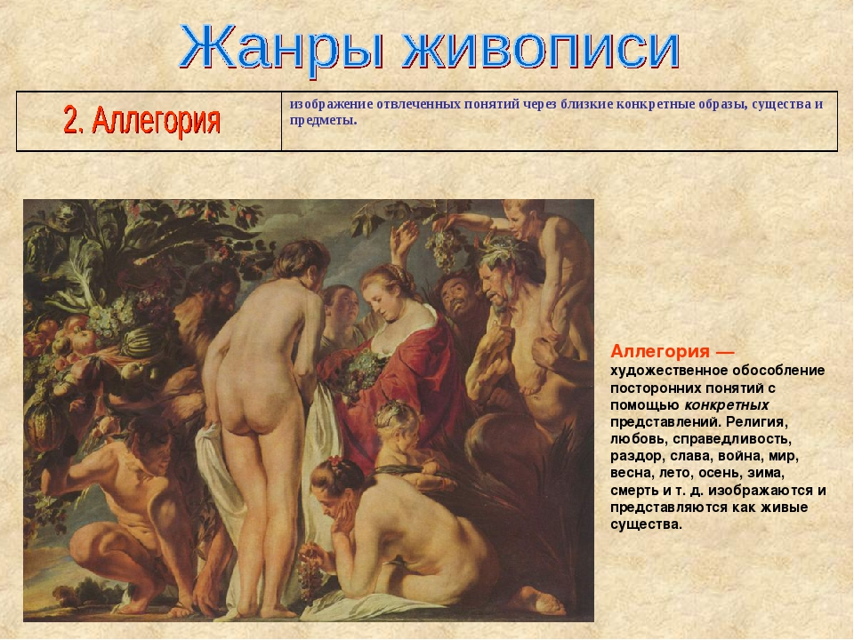 Аллегория — художественное обособление посторонних понятий с помощью конкретн...