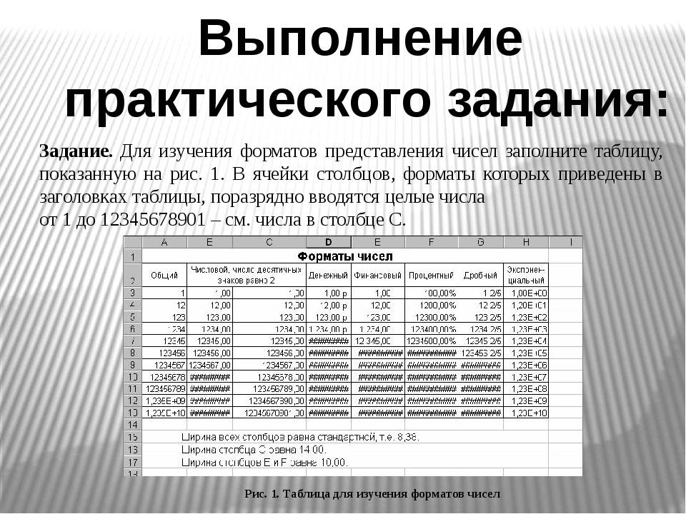 Выполнение практического задания: Задание. Для изучения форматов представлени...