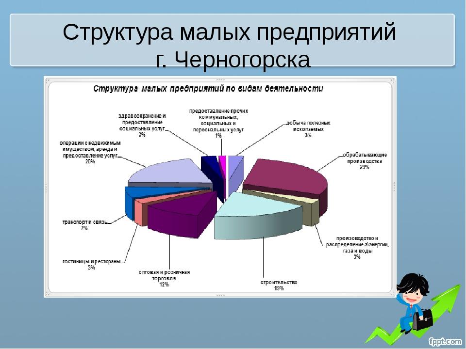Структура малых предприятий г. Черногорска