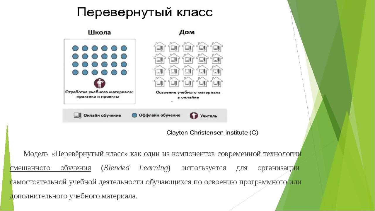 Модель «Перевёрнутый класс» как один из компонентов современной технологии см...