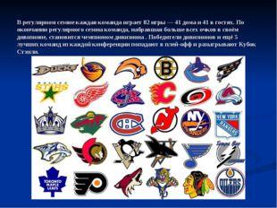 В регулярном сезоне каждая команда играет 82 игры — 41 дома и 41 в гостях. По