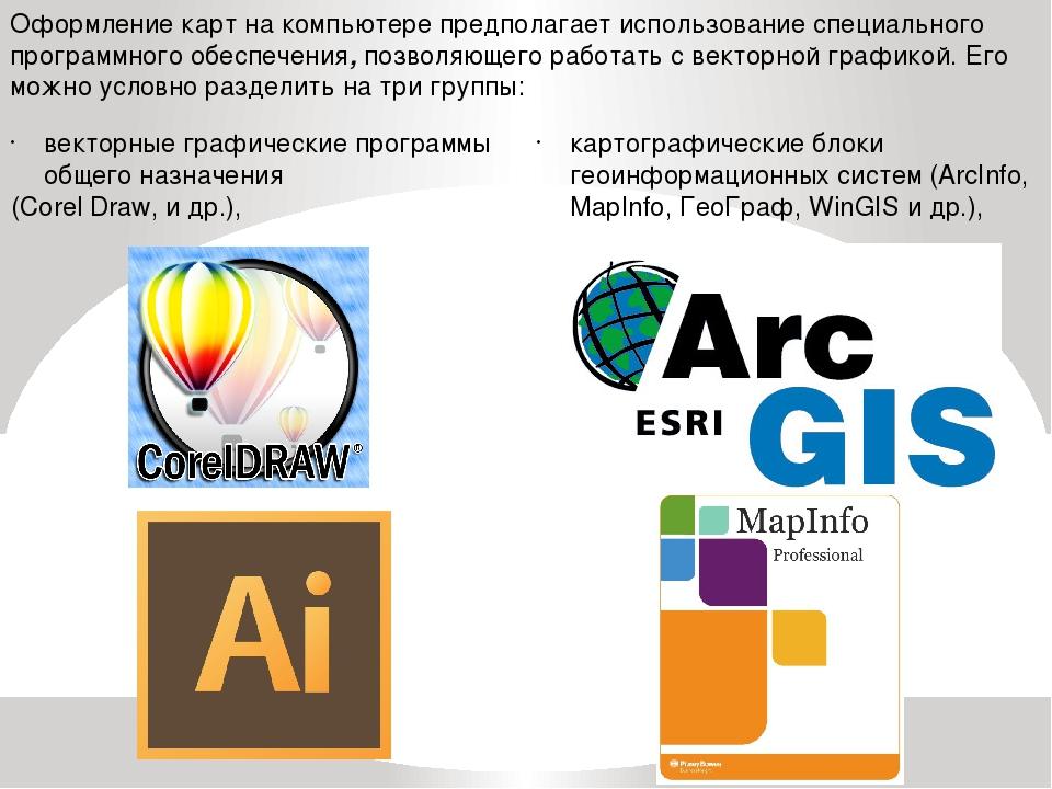 Оформление карт на компьютере предполагает использование специального програм...
