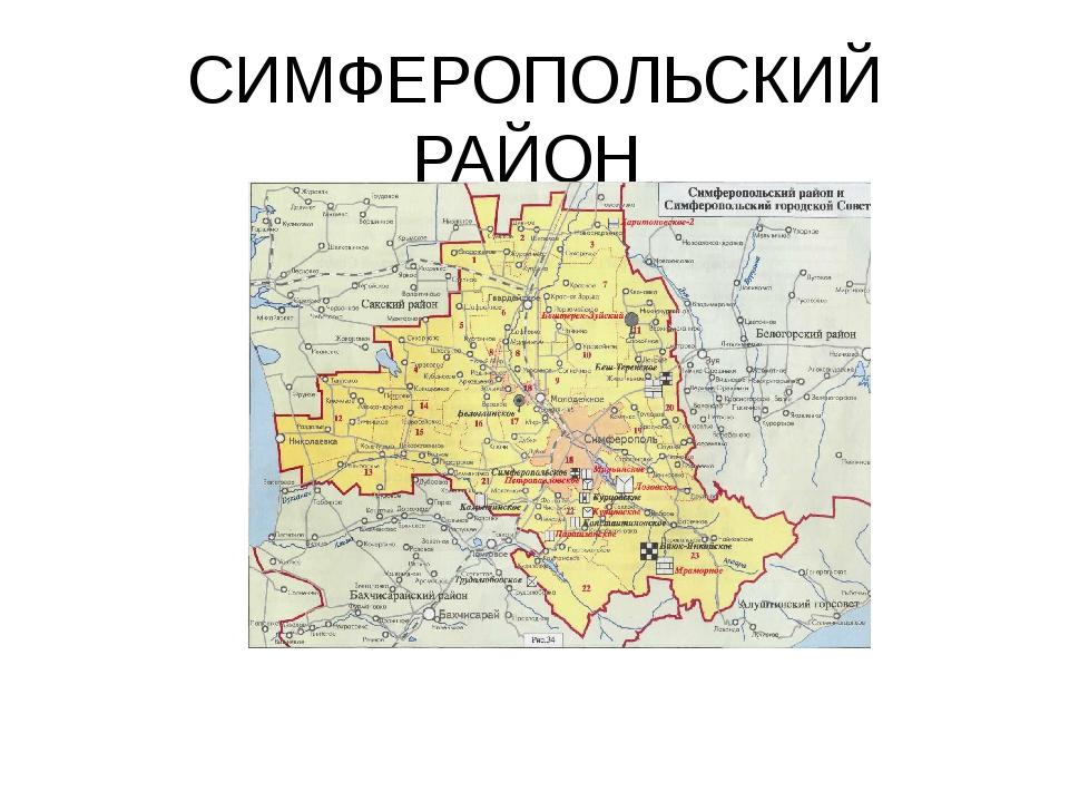 СИМФЕРОПОЛЬСКИЙ РАЙОН