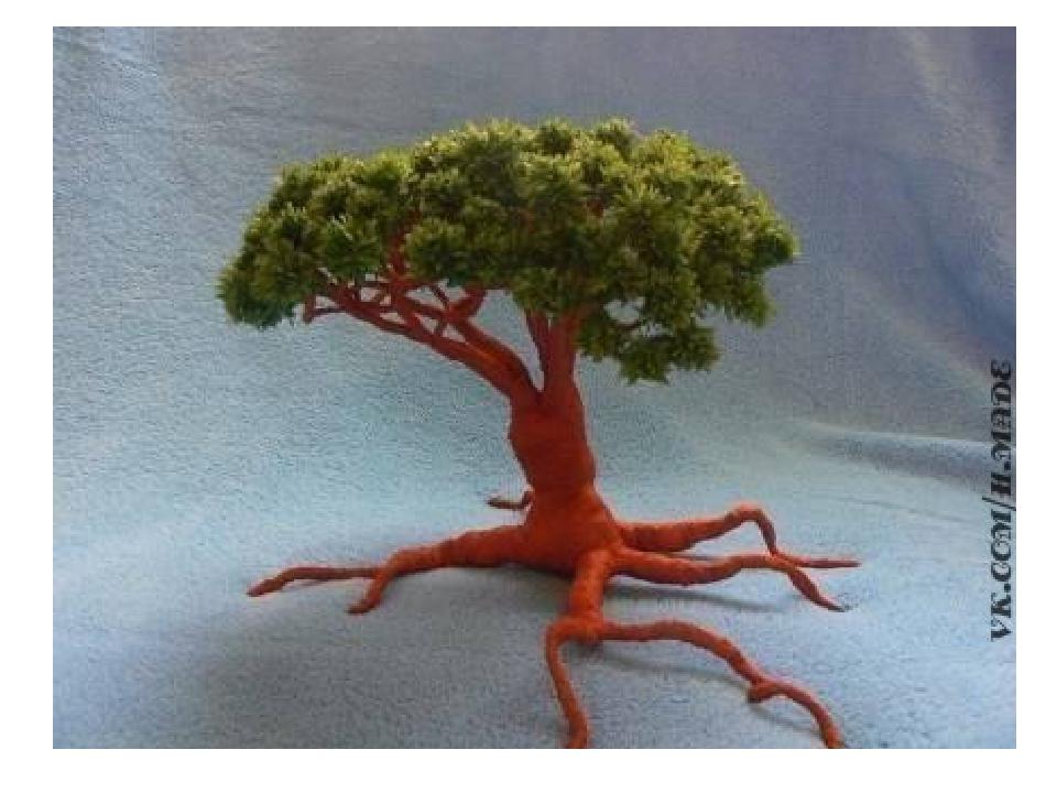 Своими руками дерево из гофрированной бумаги