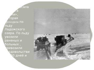 Город спасала «Дорога жизни», которая проходила по льду Ладожского озера. По