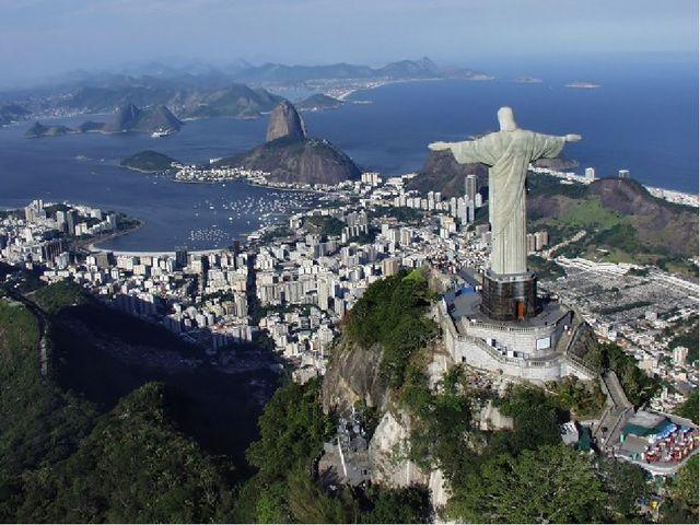Статуя является главным символом города и располагается на горе Корковадо на...