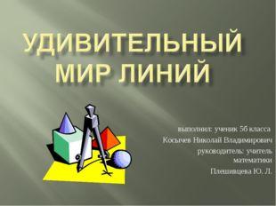 выполнил: ученик 5б класса Косычев Николай Владимирович руководитель: учитель