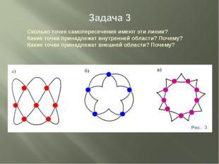 Сколько точек самопересечения имеют эти линии? Какие точки принадлежат внутре