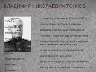 ВЛАДИМИР НИКОЛАЕВИЧ ТОНКОВ Владимир Николаевич Тонков – 1872 – 1954 г. – сове