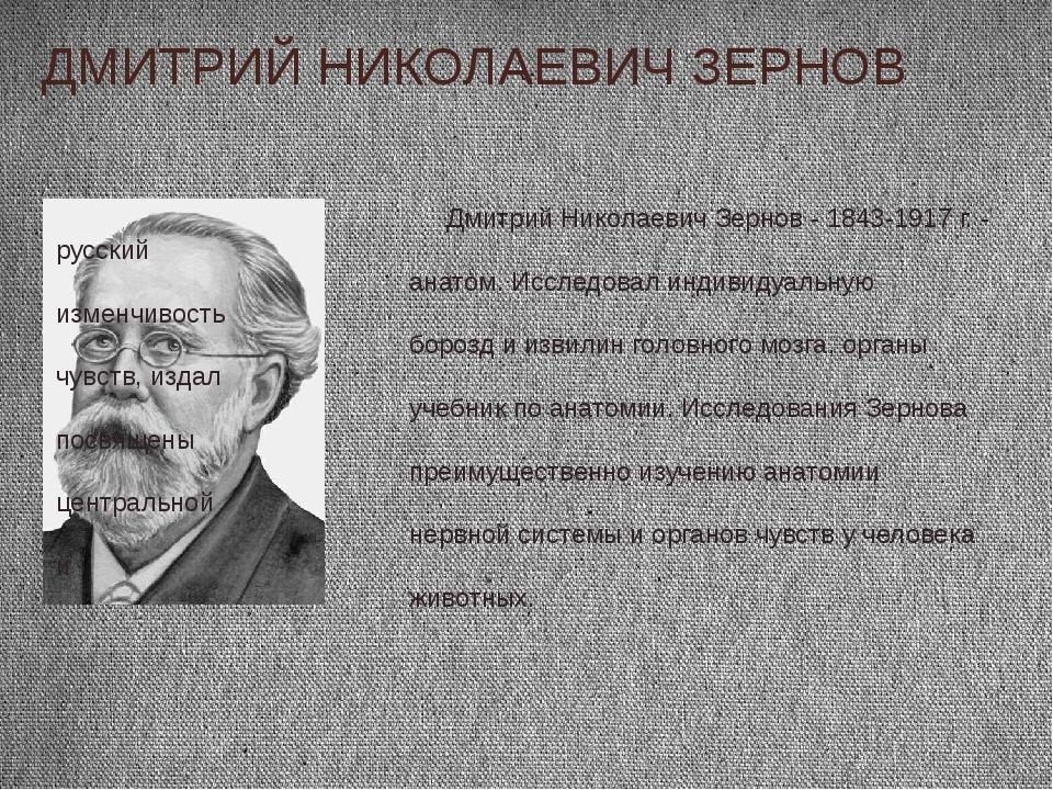 ДМИТРИЙ НИКОЛАЕВИЧ ЗЕРНОВ Дмитрий Николаевич Зернов - 1843-1917 г. - русский...