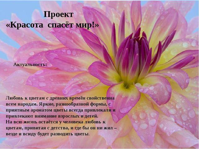 Любовь к цветам с древних времён свойственна всем народам. Яркие, разнообраз...