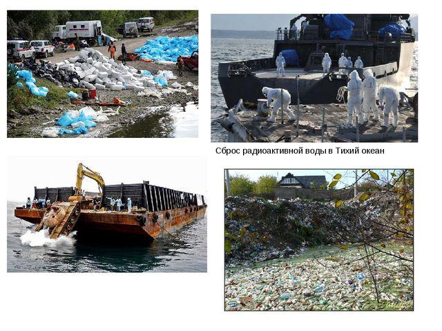 Сброс радиоактивной воды в Тихий океан
