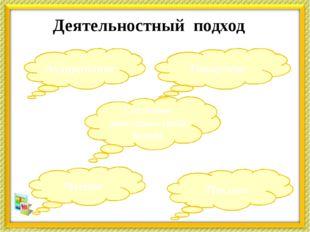 Деятельностный подход Чтение Аудирование Говорение Письмо Системно-деятельнос
