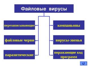 компаньоны Файловые вирусы перезаписывающие вирусы-звенья файловые черви пар