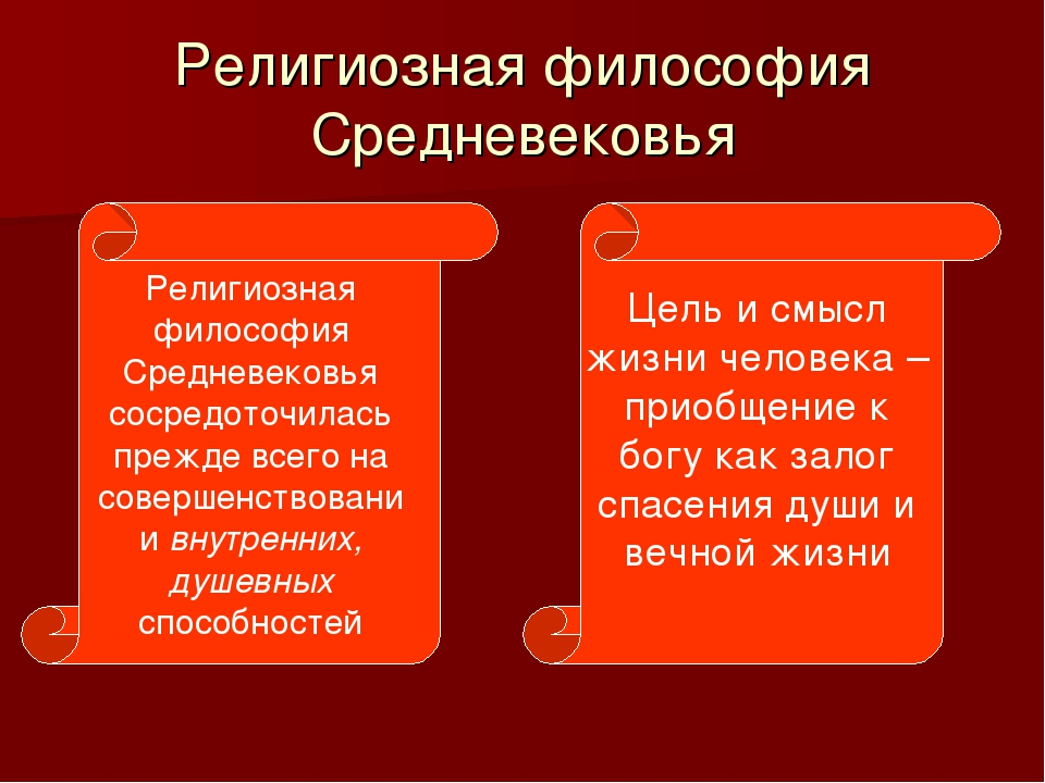 Религиозная философия Средневековья Религиозная философия Средневековья сосре...