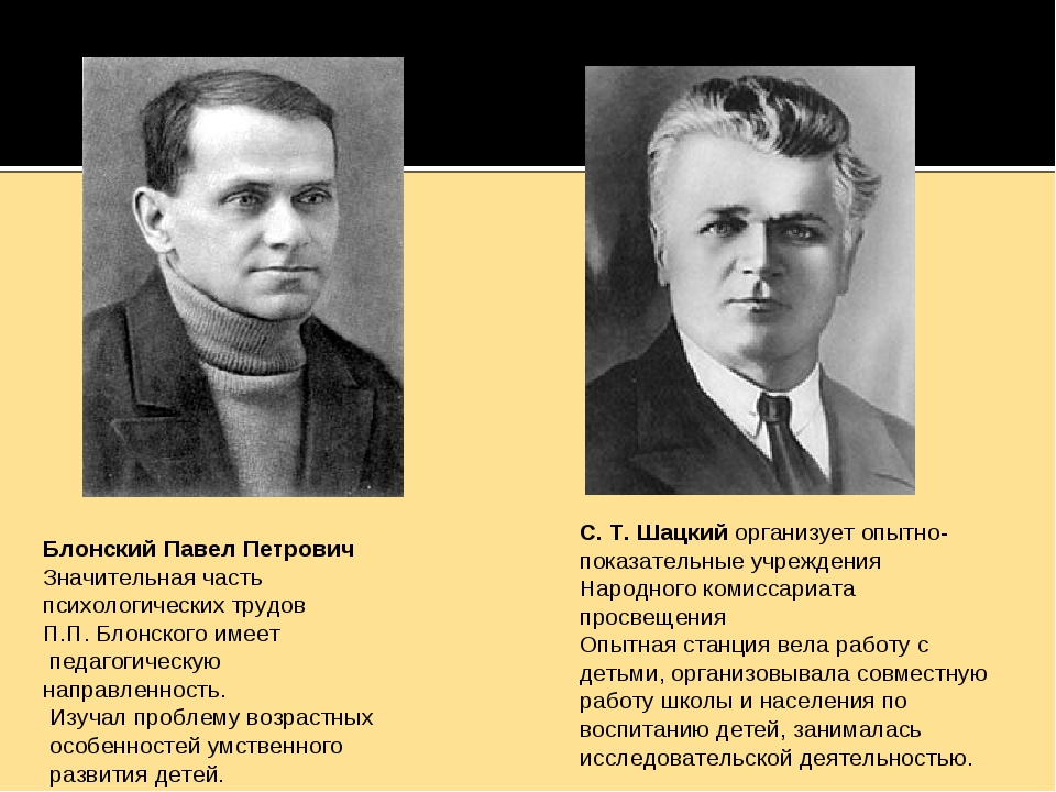 Блонский Павел Петрович Значительная часть психологических трудов П.П. Блонск...