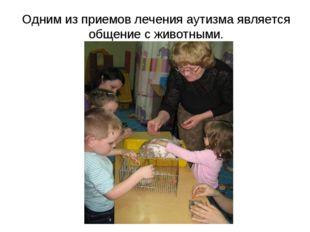 Одним из приемов лечения аутизма является общение с животными.