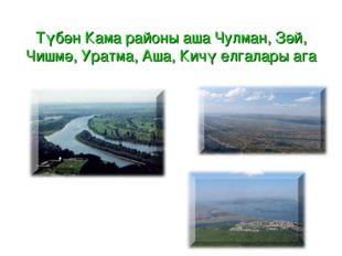 Түбән Кама районы аша Чулман, Зәй, Чишмә, Уратма, Аша, Кичү елгалары ага