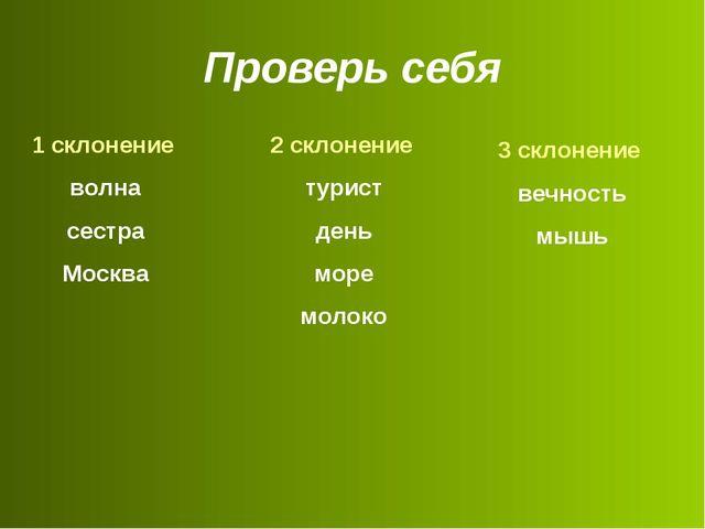 1 склонение волна сестра Москва 2 склонение турист день море молоко 3 склоне...