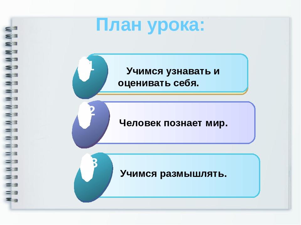 План урока: Click to add Title 1 Учимся узнавать и оценивать себя. 1 Click to...