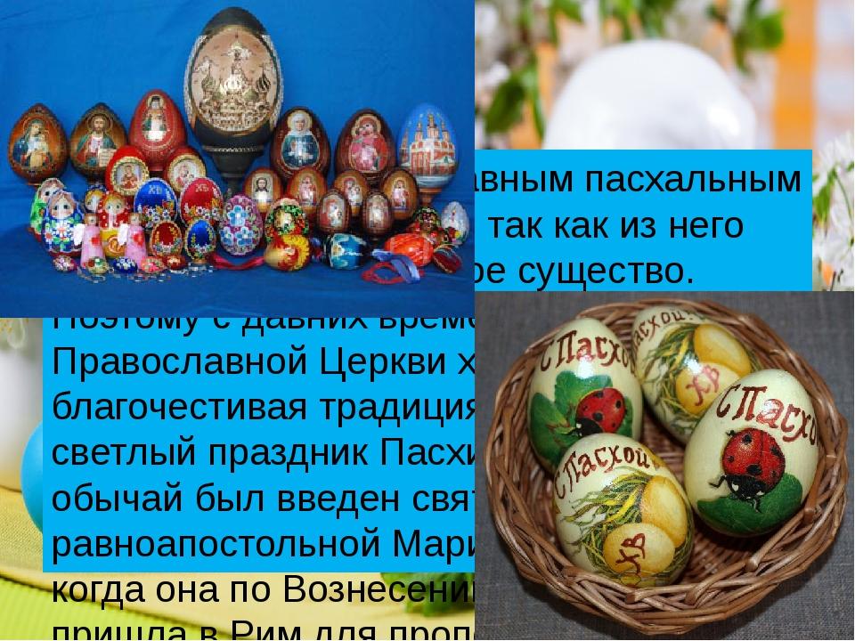 Яйцо считается главным пасхальным символом Воскресения, так как из него появ...
