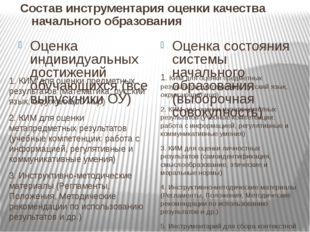 Оценка индивидуальных достижений обучающихся (все выпускники ОУ) 1. КИМ для о