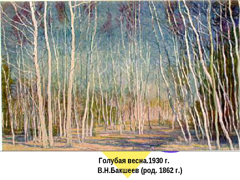 Голубая весна.1930 г. В.Н.Бакшеев (род. 1862 г.)