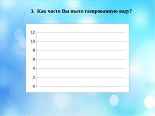 3. Как часто Вы пьете газированную воду? На 3 третий вопрос: «Как часто Вы пь