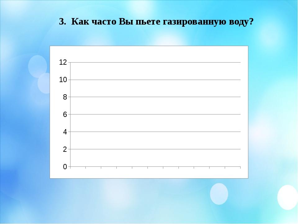 3. Как часто Вы пьете газированную воду? На 3 третий вопрос: «Как часто Вы пь...