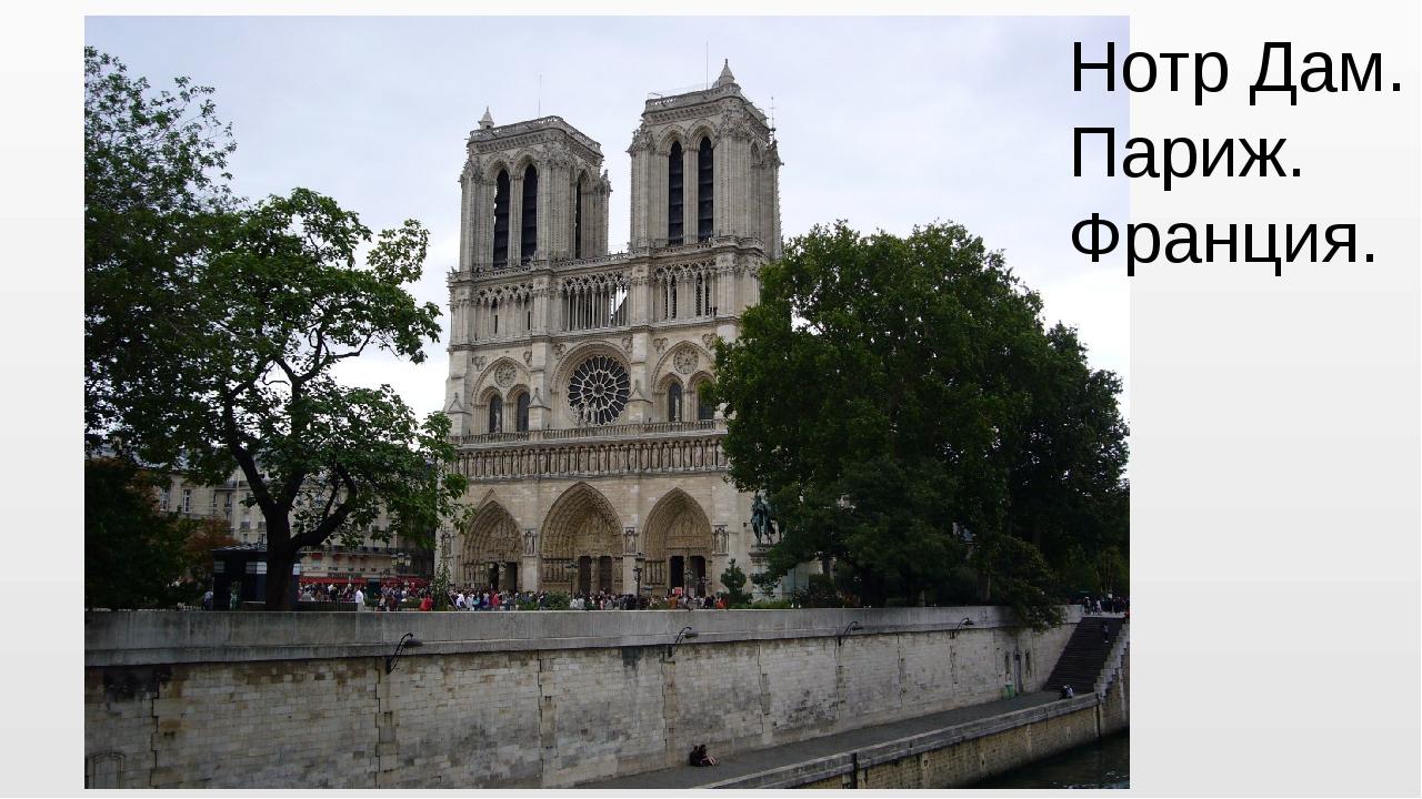 Нотр Дам. Париж. Франция.