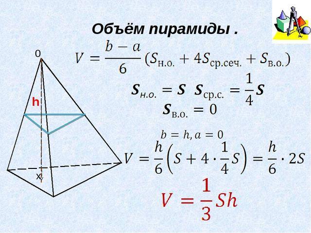 Объём пирамиды .