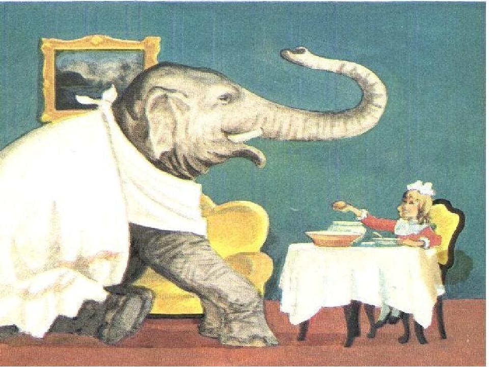 нами рисунки из рассказа слон как