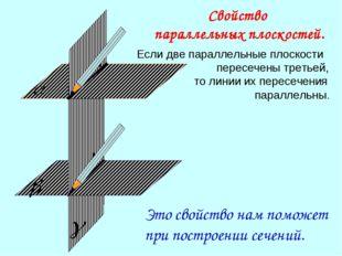 Если две параллельные плоскости пересечены третьей, то линии их пересечения п