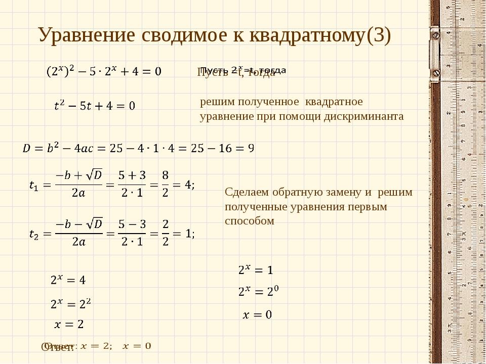 решим полученное квадратное уравнение при помощи дискриминанта Сделаем обратн...