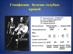 Гемофилия- болезнь голубых кровей