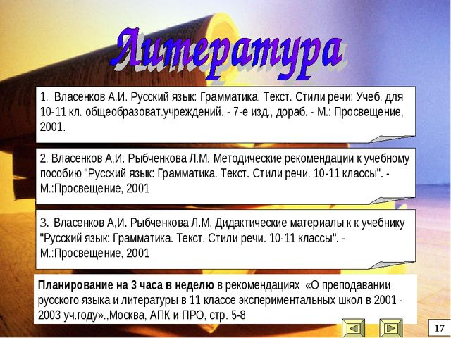 Планирование на 3 часа в неделю в рекомендациях «О преподавании русского язык...