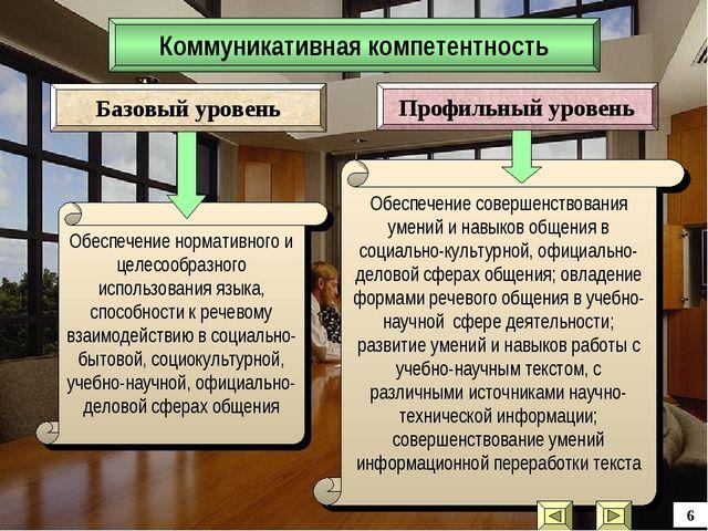 Коммуникативная компетентность Обеспечение нормативного и целесообразного исп...
