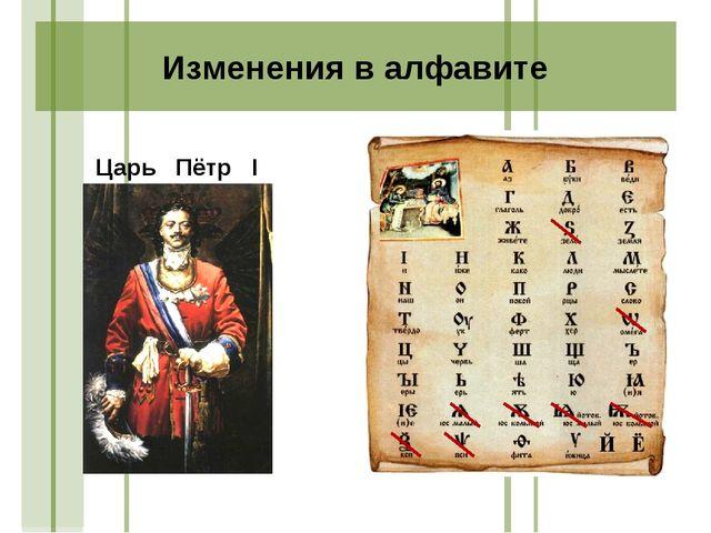 Царь Пётр I Й Ё Изменения в алфавите