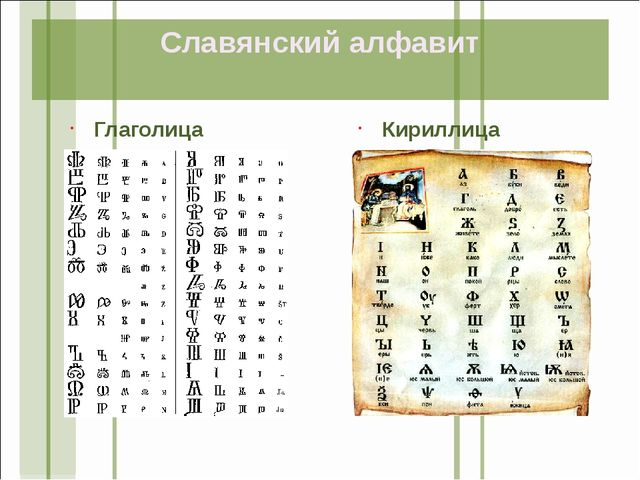Глаголица Кириллица Славянский алфавит
