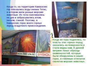 Когда-то, на территории Кавказских гор плескались воды океана Тетис, в котор