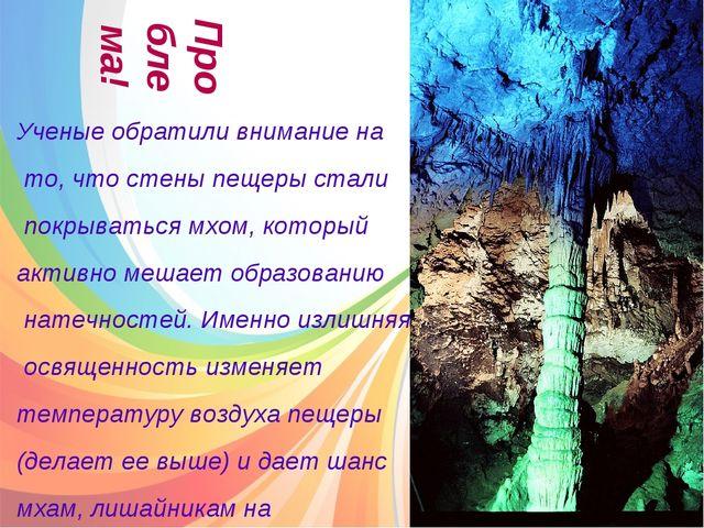 Проблема! Ученые обратили внимание на то, что стены пещеры стали покрываться...