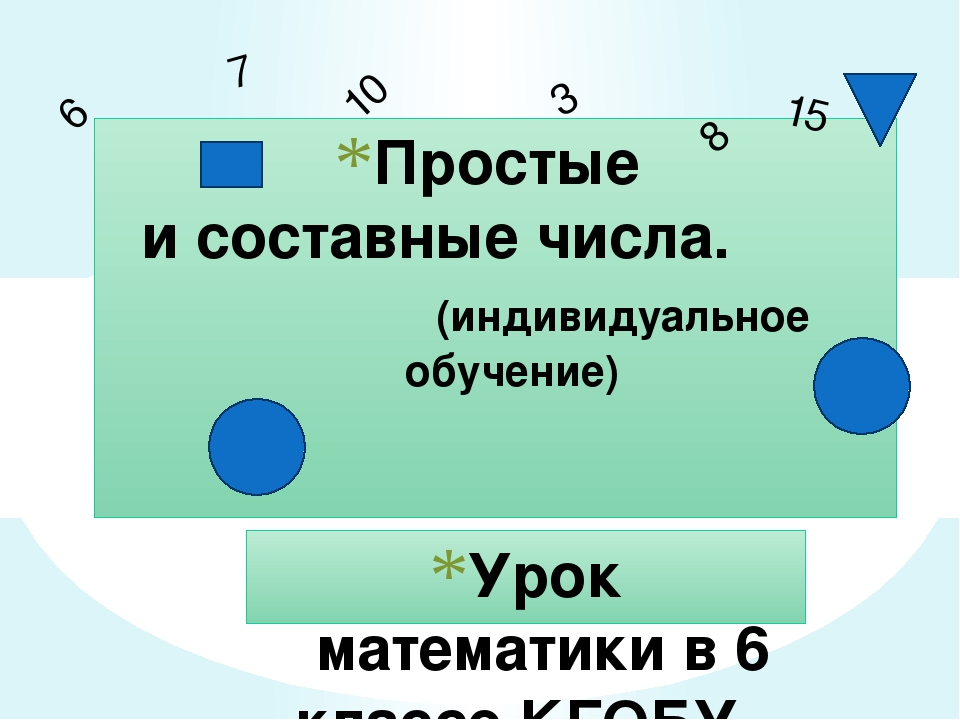 Урок математики в 6 классе КГОБУ «Арсеньевская КШ» Румянцева Татьяна Александ...