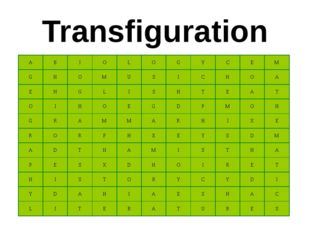 Transfiguration A B I O L O G Y C E M G H O M U S I C H O A E N G L I S H T E