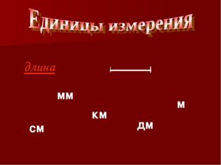 длина см мм км дм м